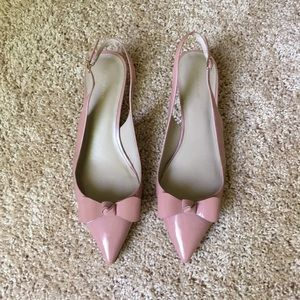 Ann Taylor Patent Leather Slingback Heels